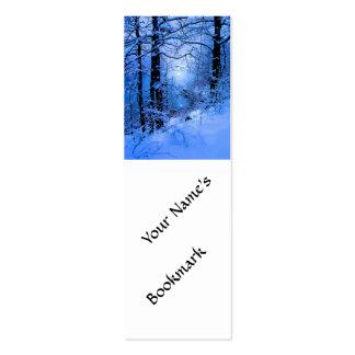 Winter Sunspot Across Lake Mini Business Card