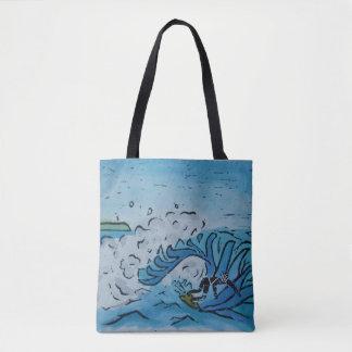 Winter Surfer Tote Bag