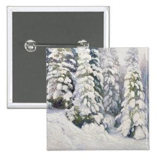 Winter Tale, 1913 2 Inch Square Button