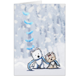 Winter Terriers Greeting Card