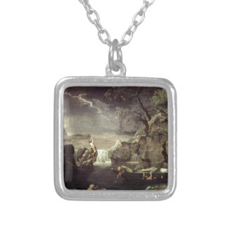 Winter (The Flood) by Nicolas Poussin Silver Plated Necklace