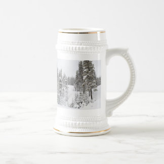 Winter Themed German Beer Mug