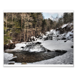 Winter Time at Kent Falls Photo Print