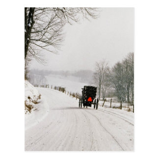 Winter Time In Amish Country-Postcard Postcard