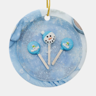 Winter Time Treats and Goodies Ceramic Ornament