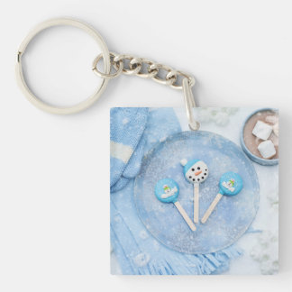 Winter Time Treats and Goodies Keychain