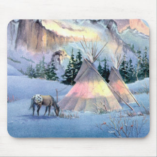 WINTER TIPI & APPALOOSA by SHARON SHARPE Mouse Pad