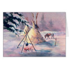 WINTER TIPI FIRE & APPALOOSA by SHARON SHARPE Card