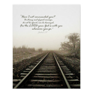 Winter Tracks and Scripture 16x20 Gloss Poster