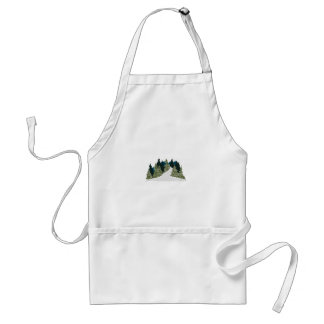 Winter Trail Scene Standard Apron
