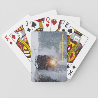 Winter Train Playing Cards