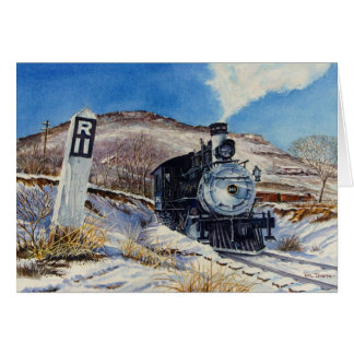 Winter Train Scene Card