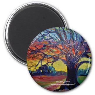 Winter Tree 2 Inch Round Magnet