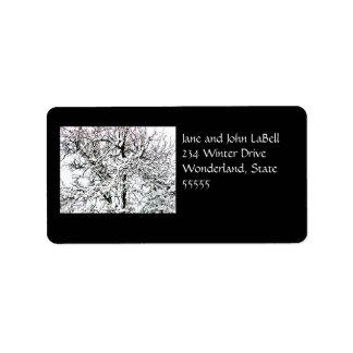 Winter tree Address Label