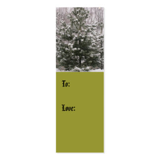 Winter Tree Love Gift Tag (color) Business Cards
