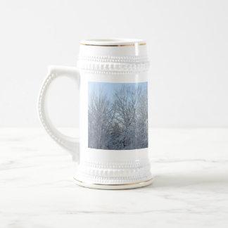 Winter Tree Scene Beer Stein