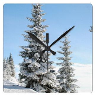 Winter Tree Snow Scene Wall Clock
