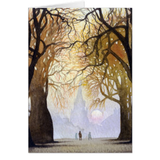Winter tree tunnel card