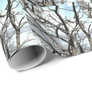 WINTER TREE WRAPPING PAPER