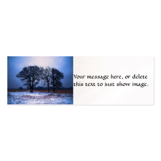Winter Trees 1 Double-Sided Mini Business Cards (Pack Of 20)