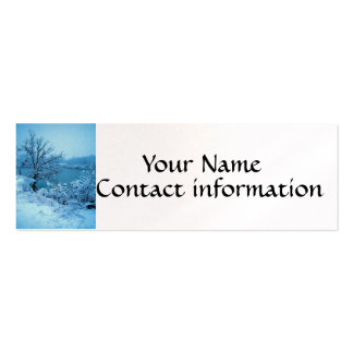 Winter Trees and Lake Pack Of Skinny Business Cards