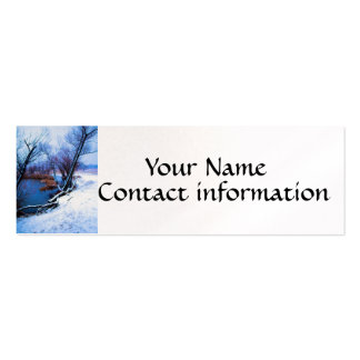 Winter Trees and Pond Pack Of Skinny Business Cards
