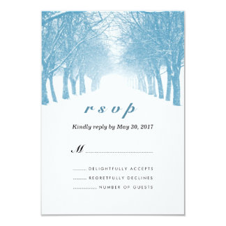 "Winter Trees Avenue Wedding RSVP Card 3.5"" X 5"" Invitation Card"