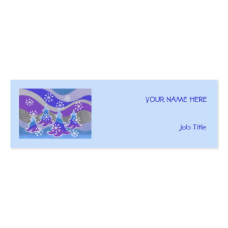 Winter Trees Blue business card blue skinny