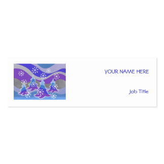Winter Trees Blue business card white skinny