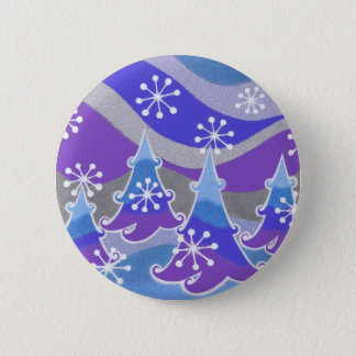Winter Trees blue button badge