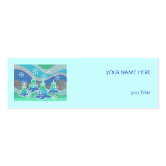 Winter Trees business card blue skinny