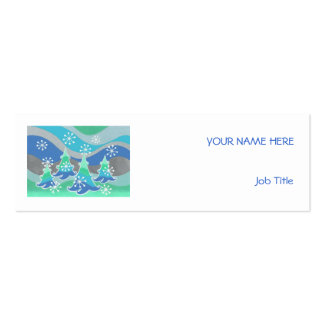 Winter Trees business card white skinny