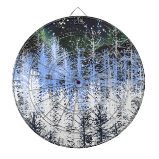 Winter trees dartboard