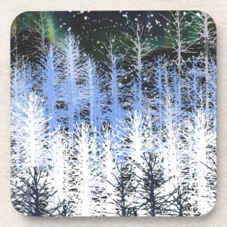 Winter trees drink coasters