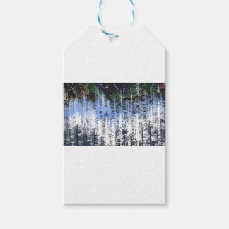 Winter trees gift tags