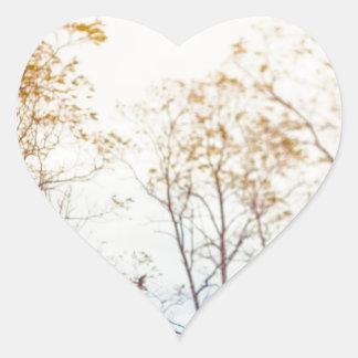Winter Trees Heart Sticker