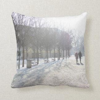Winter Tree's in Prague (czech republic) Throw Pillow