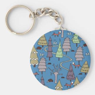 winter trees keychain