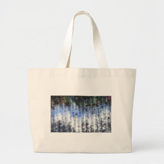 Winter trees large tote bag
