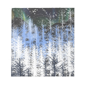 Winter trees notepad