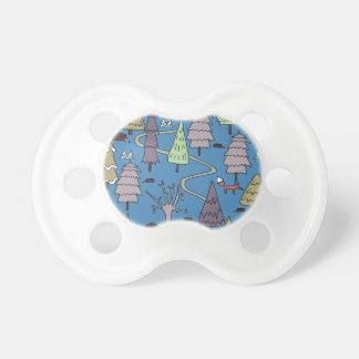 winter trees pacifier