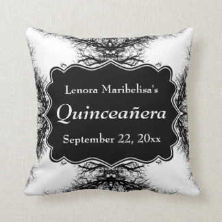 Winter Trees Pattern Quinceanera Throw Pillow