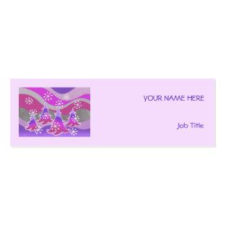 Winter Trees Purple business card purple skinny