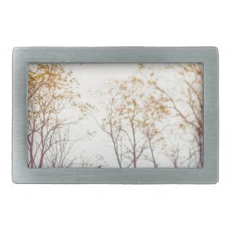 Winter Trees Rectangular Belt Buckles