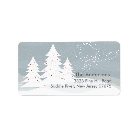 Winter Trees Snow Scene Return Address Label