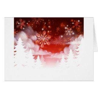 Winter Trees Snowscape Christmas Scene Card
