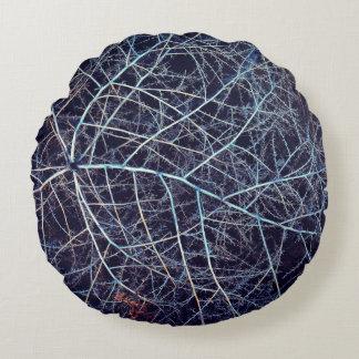 Winter Tumbleweed Round Pillow