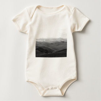 Winter Tuscany landscape with plowed fields Baby Bodysuit