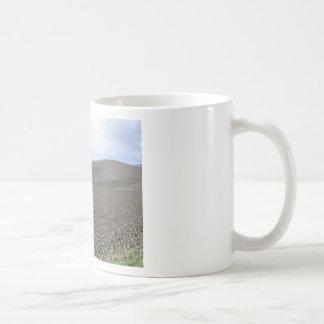 Winter Tuscany landscape with plowed fields Coffee Mug