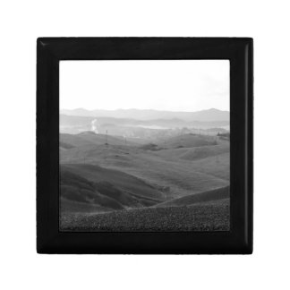 Winter Tuscany landscape with plowed fields Gift Box